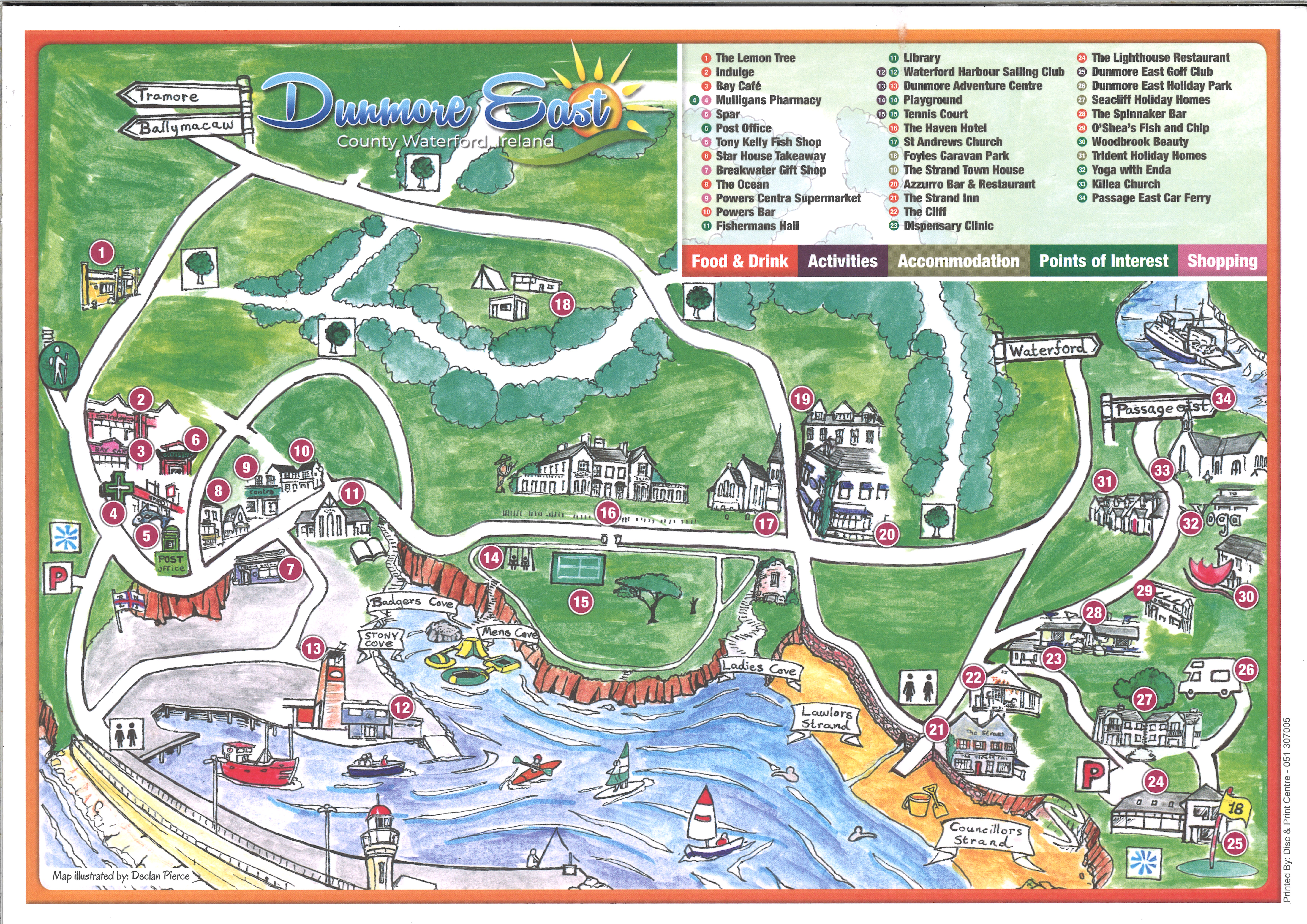 Map Of Ireland Tourist Attractions.Cruise Calls Port Of Waterford